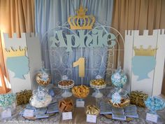 You won't want to miss this Little Prince Charming 1st Birthday Party! The desserts are gorgeous! See more party ideas at CatchMyParty.com