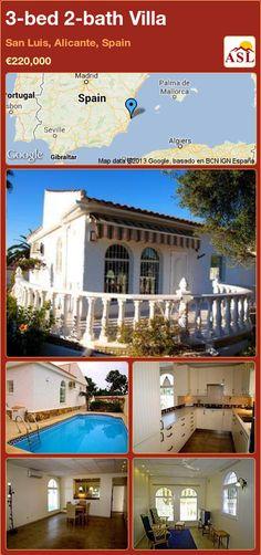 3-bed 2-bath Villa in San Luis, Alicante, Spain ►€220,000 #PropertyForSaleInSpain