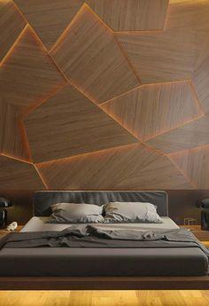 50 Elegant Bedroom Concept Ideas - My Design Fulltimetraveler Bedroom Wall Designs, Accent Wall Bedroom, Bed Furniture, Furniture Design, Inside Out Style, Unique Lighting, Bed Design, Modern Bedroom, Architecture Design