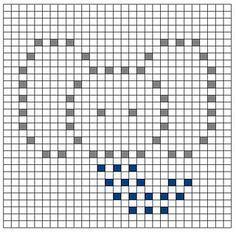 Ravelry: Elephant Bobble Chart pattern by Kari Philpott Crochet Patterns Filet, Graph Crochet, Crochet Flower Patterns, Free Crochet, Bobble Stitch Crochet Blanket, Crochet Heart Blanket, Crochet Elephant, Manta Crochet, Letter Patterns