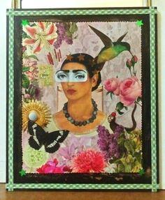 """Cuadro """" Frida vs Fornasetti"""". (GloriArte143). Vendido /Sold out. Collage."""