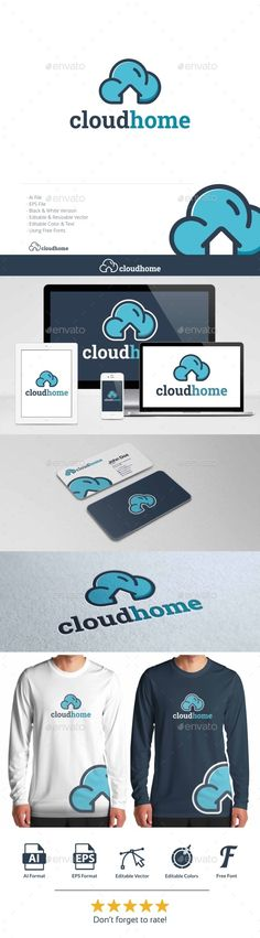 Cloud Home — Vector EPS #building #safe • Available here → https://graphicriver.net/item/cloud-home-/13957956?ref=pxcr