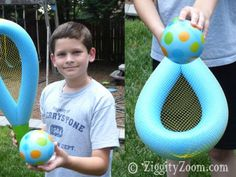 pool noodle racquet ball