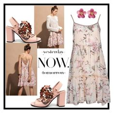"""""""NOW!"""" by tuaptstore on Polyvore featuring Spring, floral, fashionset, springflorals and ss17"""