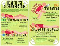 Sleeping Positions- Good & Bad ref: http://wellnessforlife.com.sg/sleeping-positions-good-bad/