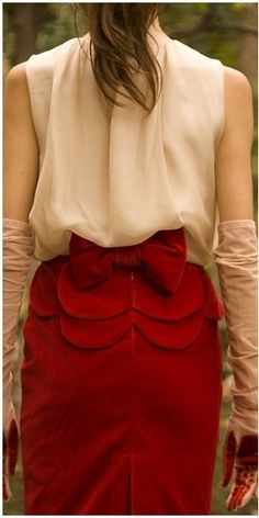 Ruffle and a Bow !  Perfect!