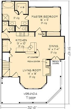 COOL house plans offers a unique variety of professionally designed home plans with floor plans by accredited home designers. Styles include country house plans, colonial, Victorian, European, and ranch. Blueprints for small to luxury home styles. Victorian House Plans, Victorian Homes, Victorian Farmhouse, Small House Plans, House Floor Plans, Sleeping Porch, Upstairs Bedroom, Sims House, Country Farmhouse