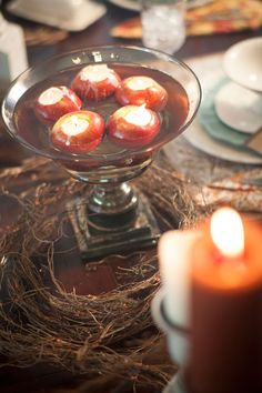 Make a Beautiful Centerpiece this Thanksgiving with the Mary & Martha Copper Luster Pillar!