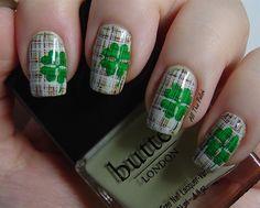 St. Patrick's Day Shamrocks Plaid