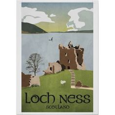 Vintage travel poster Loch Ness - Google Search