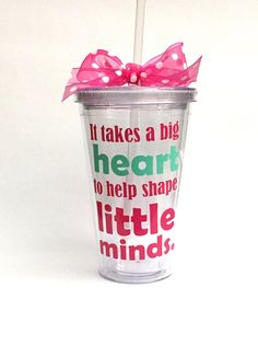 Teacher Appreciation Gift  It takes a big heart by KatiePieDesigns