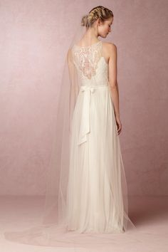 BHLDN Triolet Cathedral Veil in  Bride Veils & Headpieces at BHLDN