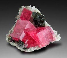 Rhodochrosite with Tetraedrite - Sweet Home Mine, Mount Bross, Alma District, Park Co., Colorado, USA Size: 5.8 x 5.6 x 4.5 cm
