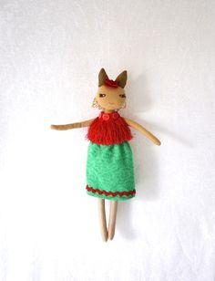 SeptemberWald - Stoffpuppe,Stoffkatze,rag doll von pipinja auf DaWanda.com