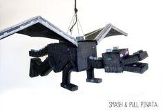 Ender Dragon Pinata Minecraft Party Custom por SmashandPullPinata