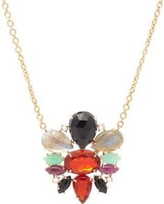 Irene Neuwirth Diamond Collection Mixed Gemstone & Rose Gold Pendant Necklace