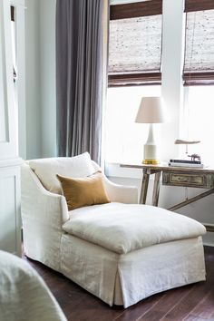 Camille Styles Home Tours - Marie's Timeless Craftsman Home - Marie Flanigan Interiors - linen chaise lounge