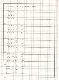 művelet-műveletre_1 - Kiss Virág - Picasa Web Albums Math For Kids, Bullet Journal, Archive