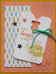 Quick & Easy birthday card made with Endless Birthday Wishes stamp set from Stampin' Up!  Get more inspiration at www.stampersclub.com