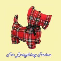 Royal Stewart Tartan Scottie Dog Soft Toy Red Tartan Stuffed Animal