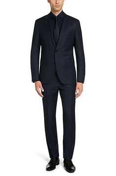 'Johnstons/Lenon' | Regular Fit, Virgin Wool Suit 'Johnstons/Lenon' | Regular Fit, Virgin Wool Suit, Dark Blue