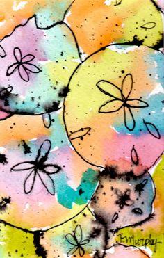 Sand Dollars Painting - Tracee Murphy
