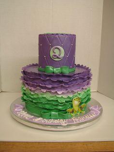 Princess & Frog Celebration Cakes, Birthday Celebration, Princess Tiana, Themed Cakes, Birthday Cakes, Desserts, Food, Shower Cakes, Theme Cakes