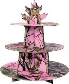 Pink Camo Cupcake Stand