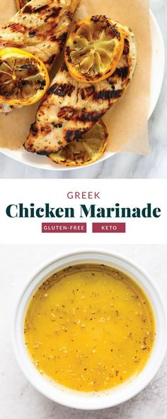 Homemade Greek Chicken Marinade - Fit Foodie Finds Chicken Marinade Recipes, Chicken Marinades, Easy Chicken Recipes, Grilling Recipes, Healthy Meats, Healthy Recipes, Healthy Lunches, Free Recipes, Healthy Eating