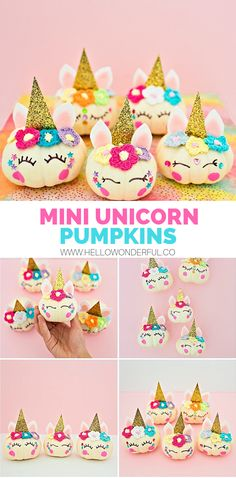 DIY Mini Unicorn Pumpkins The particular Primary advantages of Craft for Young children & Halloween Crafts For Kids, Crafts For Kids To Make, Halloween Activities, Projects For Kids, Halloween Fun, Halloween Projects, Halloween Pumpkins, Unicorn Halloween, Unicorn Party