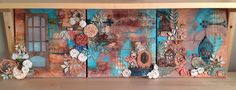 Mixed media project: 3 - 12' x 12' canvas series