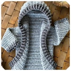 Crochet Baby Cardigan Free Pattern, Crochet Hoodie, Free Crochet, Crochet Patterns, Crochet Hats, Irish Crochet, Baby Patterns, Crochet Ideas, Dress Patterns