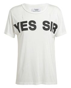 FILLES A PAPA   Yes Sir Distressed Jersey T-Shirt