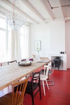 my scandinavian home: A Dutch guest house with red floors and vintage touches