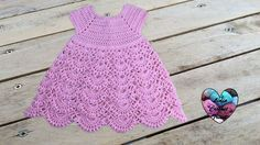 Princess dress crochet all sizes (english subtitles) 1/2 - YouTube Video