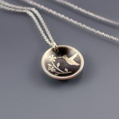 Hummingbird Necklace by Lisa Hopkins Design