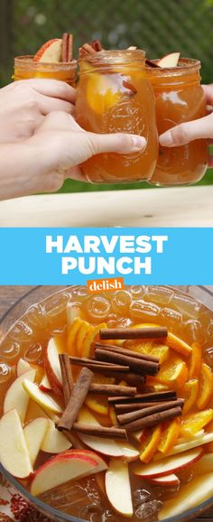 Harvest Punch Delish, but maybe with rum instead of vodka Thanksgiving Recipes, Fall Recipes, Holiday Recipes, Fall Punch Recipes, Thanksgiving Cocktails, Holiday Drinks, Party Drinks, Christmas Mocktails, Slushies