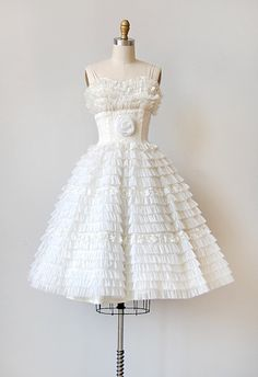 vintage 1950's tulle wedding/party dress