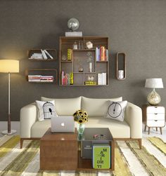 space saving ideas for indian homes and apartments- wall mounted shelves