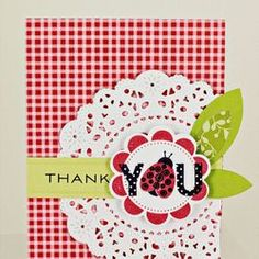 Lady Bug thank you card