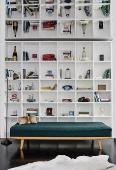 Shelving unit - ideal for beside fireplace. Like the idea of square box structure instead of standard shelves