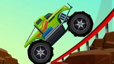 monster truck stunts | game | cartoon videos for kids & toddlers