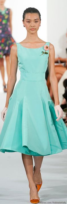 maybe not entirely my style, but love the colors and the shoes    Oscar de la Renta | S/S 2014