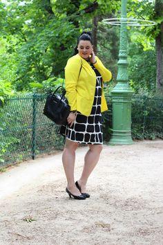 Anaïs Pénélope - Plus-size fashion blog: Yellow graphic