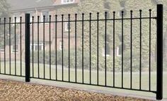 Cannock Gates - Wrought Iron Metal Wall Railings Fence