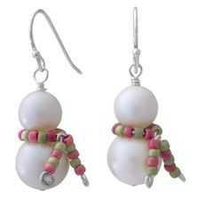 Snowman in a Scarf Earrings Inspiration Project - Trend Beaded Jewelry 2020 I Love Jewelry, Jewelry Making Beads, Wire Jewelry, Jewelry Crafts, Handmade Jewelry, Jewelry Design, Jewellery Making, Jewellery Shops, Handmade Wire