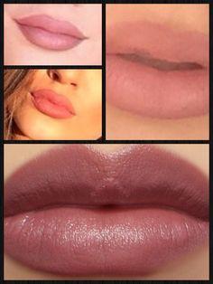 Mauve Lipstick - natural lips - dusty roseRevlon Mystic Mauve Lipstick