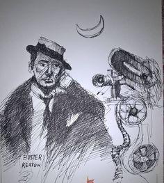 "disegno a china ""Buster Keaton"""