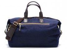 Bedford Navy Wax Overnight Bag  $395.00 by Ernest Alexander