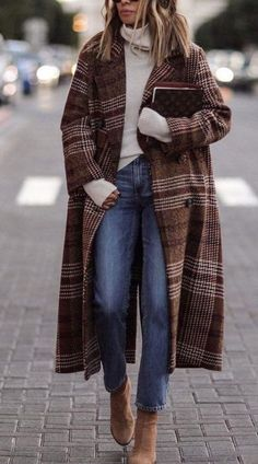 45 Fabulous Winter Outfits You Must Have / 02 - Frauen Mode - Outfits Look Fashion, New Fashion, Trendy Fashion, Womens Fashion, Fashion Vintage, Vintage Style, Fall Fashion, Trendy Style, Fashion Trends